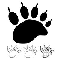 Animal footprint Icon Vector