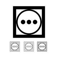 vector de icono de símbolo de lavandería