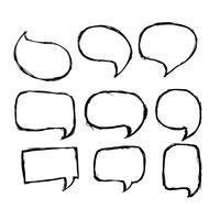 Sprechblasen-Symbol Hand gezeichnet