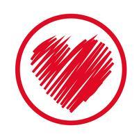 heart icon vector illustration