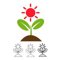 Plant pictogram vector