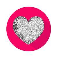 Herz-Symbol-Vektor-Illustration