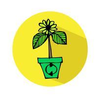 Hand drawn tree icon
