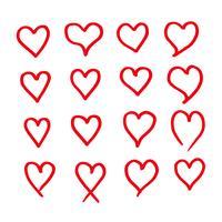 hart pictogram ontwerp hand tekenen