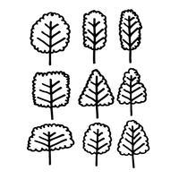 Hand getekend boom pictogram
