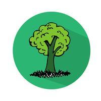 Hand gezeichnete Baum-Symbol
