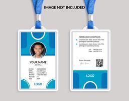 Plantilla de tarjeta de identificación azul Niza impresionante