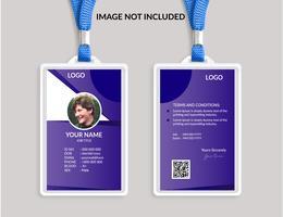 Plantilla de tarjeta de identificación impresionante púrpura
