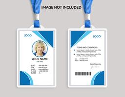 Blue Awesome ID card template vector