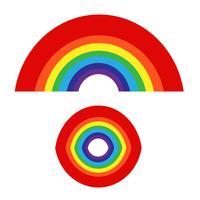 Regenbogen mit Wolkensymbol