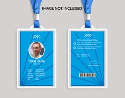 Blue Awesome ID card template 13
