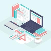 Isometric Graphic Design Elements
