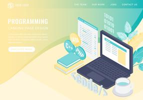Vector Programming Isometric Landing Page
