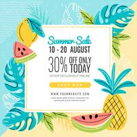 Vector Colorful Summer Banner Template