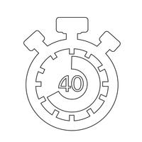 Icono de señal de cronómetro