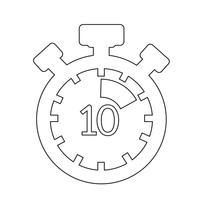 Sinal, de, cronômetro, ícone