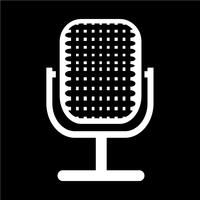 Sign of microphone icon vector