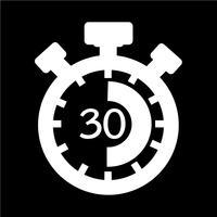 Teken van stopwatch pictogram