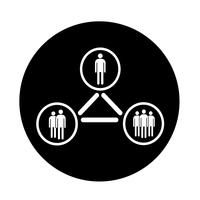 Menschen-Netzwerk-Symbol