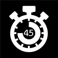 Sign of stopwatch icon vector