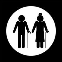 Elder People Icon vector