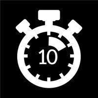 Zeichen der Stoppuhr-Symbol vektor