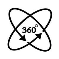 Icono de 360 grados
