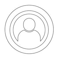 Sign of User Icon vector