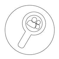 Sinal, de, usuário, ícone
