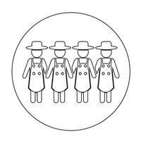 Tecknet på jordbrukarnas ikon