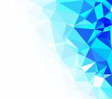 Blauer polygonaler Mosaik-Hintergrund, kreative Design-Schablonen