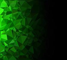 Grüner polygonaler Mosaik-Hintergrund, kreative Design-Schablonen