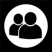 Icono de signo de usuario