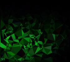 Green Polygonal Mosaic Background, Creative Design Templates