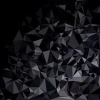 Black Polygonal Mosaic Background, Creative Design Templates