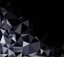 Fondo de mosaico poligonal negro, plantillas de diseño creativo vector