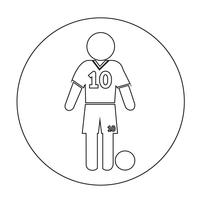 Football Soccer Player Icon