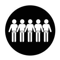 Traje de baño Icono de la gente