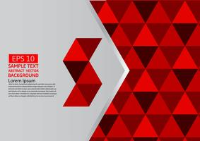 Vector abstract geometric red background modern design eps10 with copy space