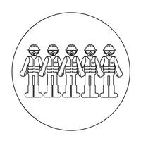 Ícone de pessoas trabalhador