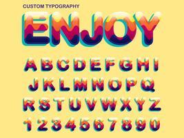 Design tipografico colorato