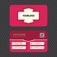 Colorful Pink Business Card