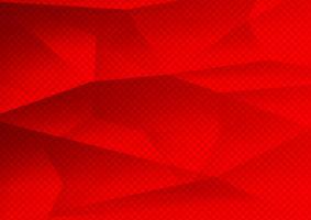 Polígono de cor vermelha abstrato tecnologia moderna, ilustração vetorial