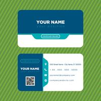 Colorful Blue Business Card