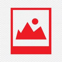 Foto-Symbol Vektor-Illustration