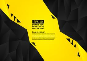 Black and yellow color polygon abstract background modern design, Vector illustration with copy space