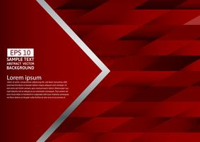 Abstract red color geometric background, Vector illustration with copy space