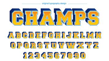 Tipografía Bold Blue Yellow Varsity