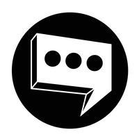 Icono de burbuja del discurso vector