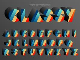 Vintage Colorful Typography